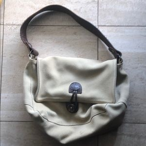 Tylie Malibu Tan Suede Purse Brown Leather strap